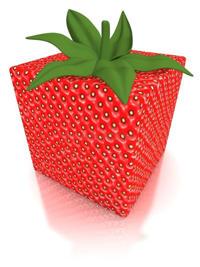 Cubique la fresa formada stock de ilustración