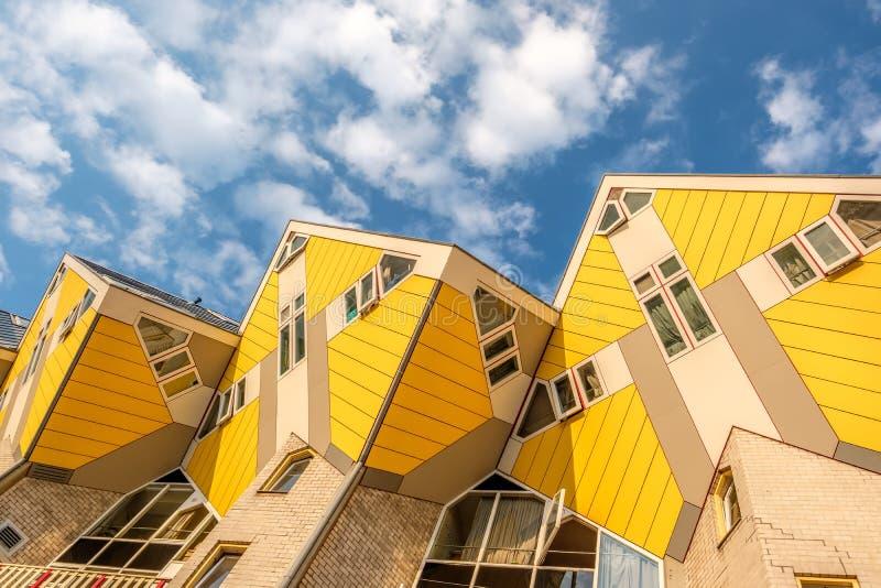 Cubique las casas en Rotterdam, Holanda Meridional, Países Bajos imagen de archivo libre de regalías