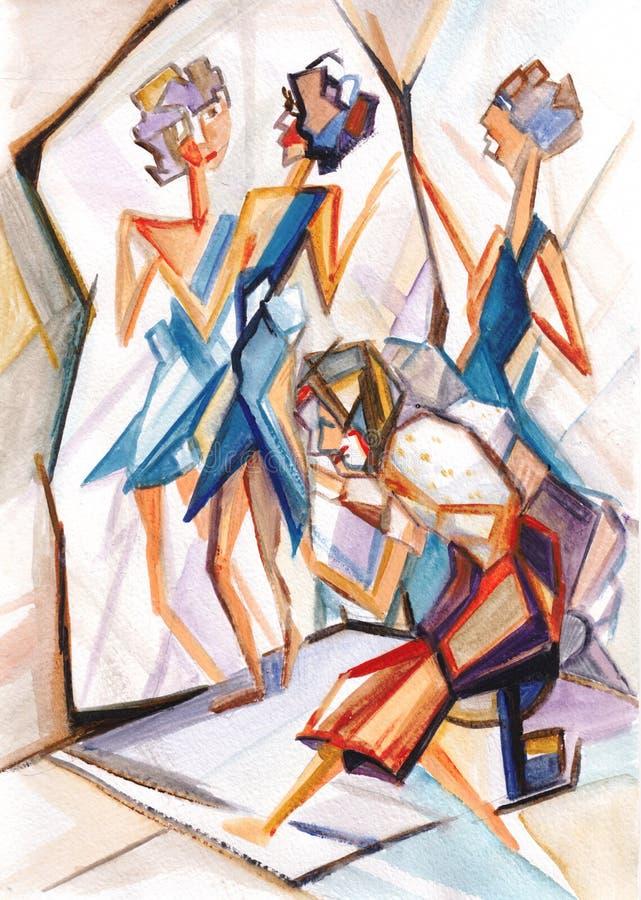 cubism libre illustration