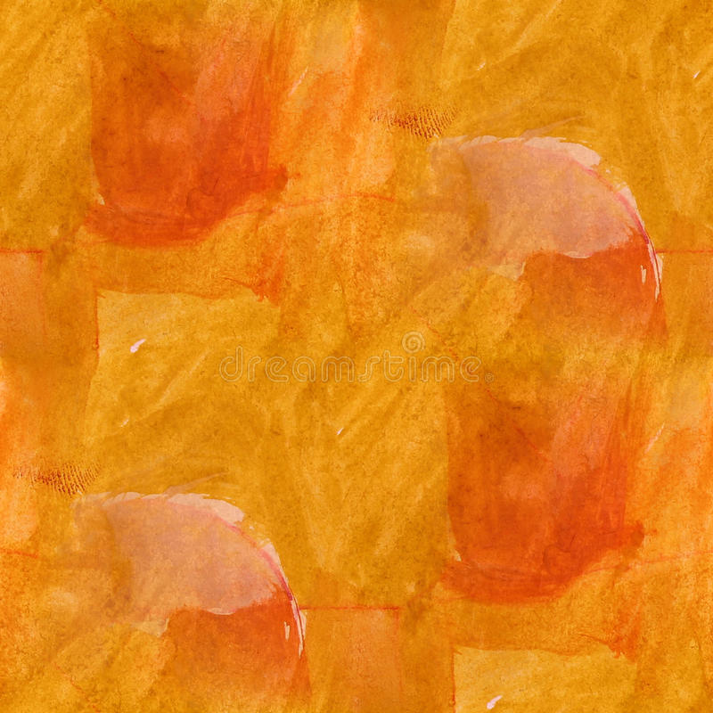 Cubism abstract yellow, white art texture. Watercolor wallpaper artist seamless background stock illustration