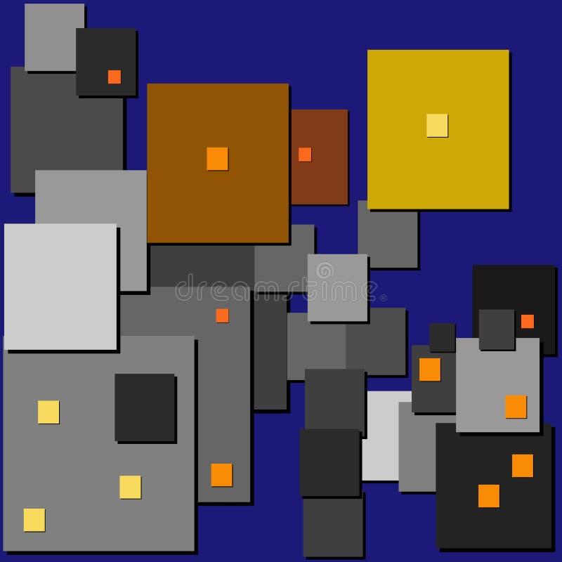 cubism Luces de calle libre illustration