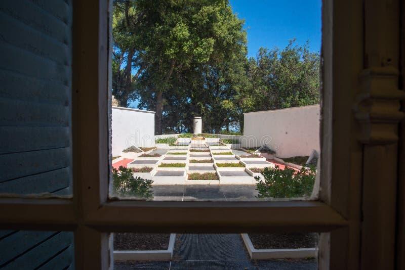 Cubist garden of Villa Noailles, Hyeres, France royalty free stock image