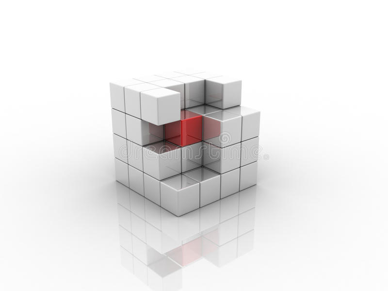 Cubo ilustração royalty free