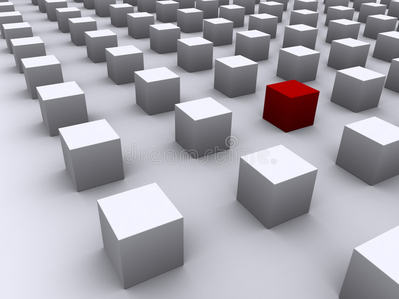 Cubo ilustración del vector