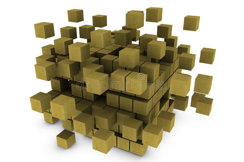 cubo 3d ilustração do vetor