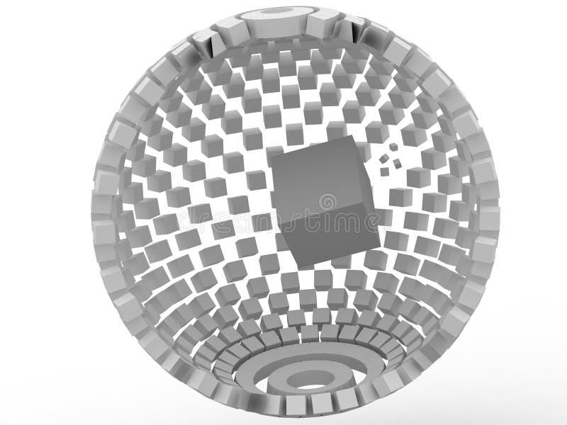 cubo 3d illustrazione di stock