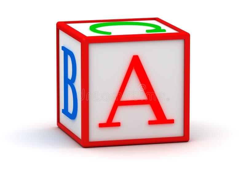 cubo 3D con la letra A stock de ilustración