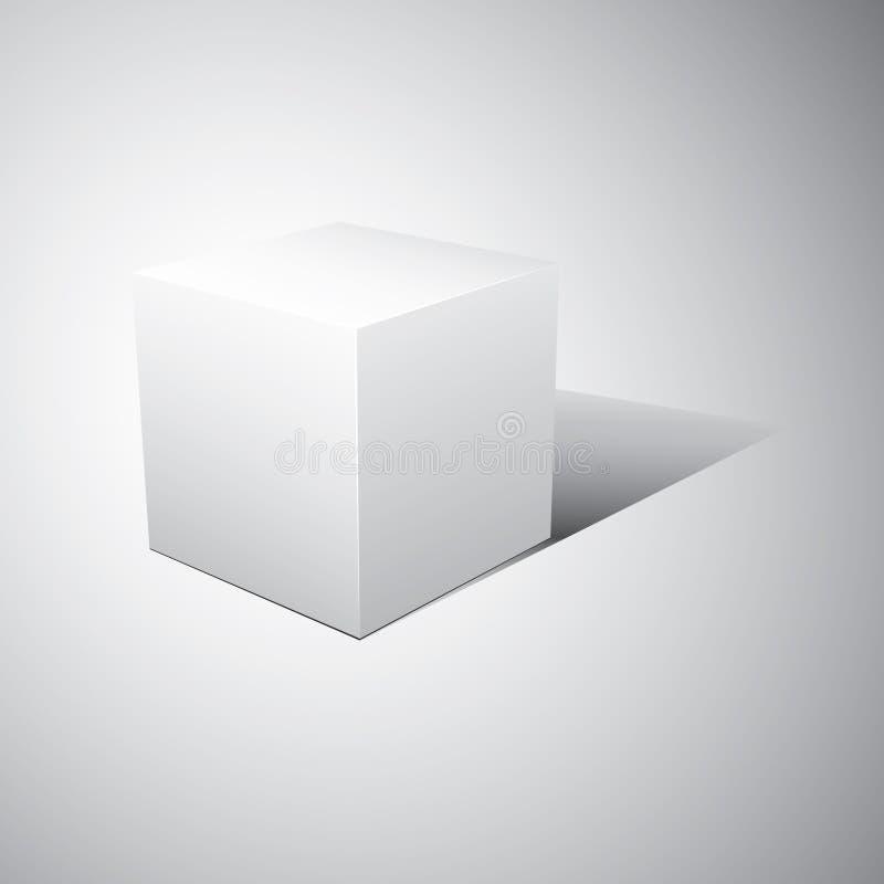 cubo 3D. Ilustração do vetor fotografia de stock