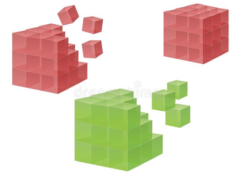 Cubo ilustração stock