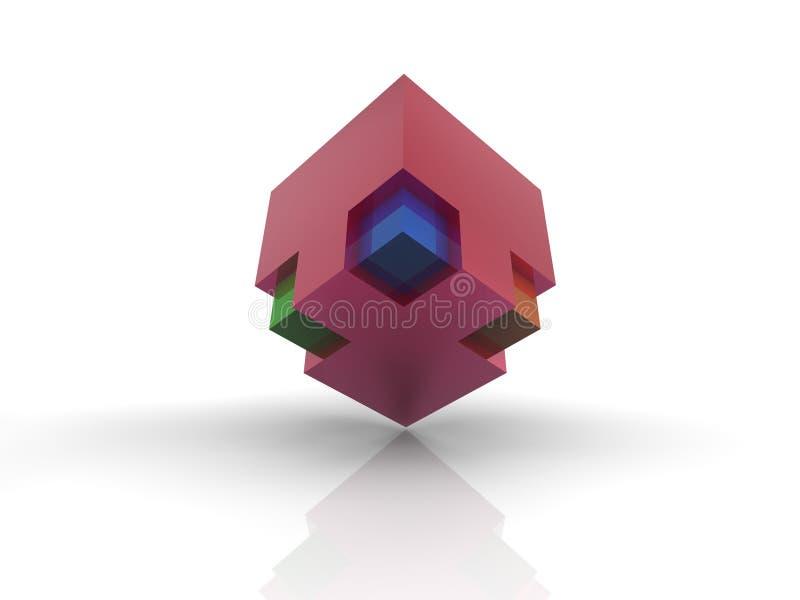Cubo abstracto imagen de archivo libre de regalías