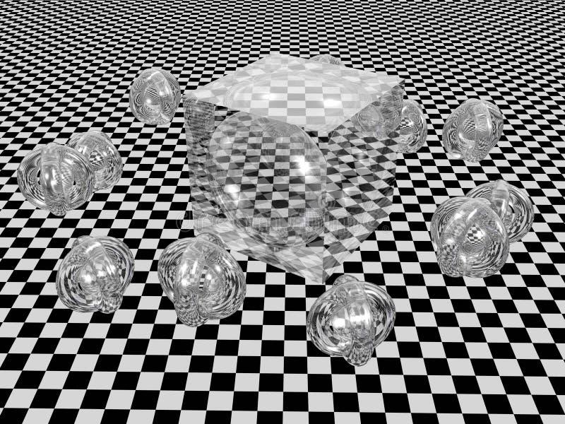 Cubo abstrato. ilustração do vetor
