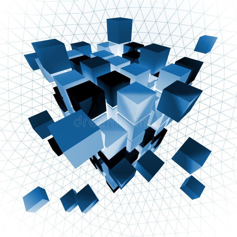 Cubo abstrato ilustração stock
