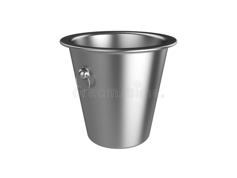 Cubo aislado en el fondo blanco, representación 3D stock de ilustración