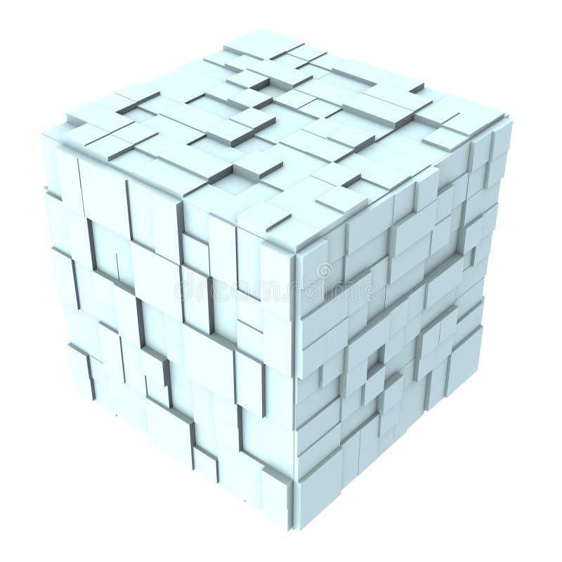 cubo astratto 3d dalle caselle 01 illustrazione di stock