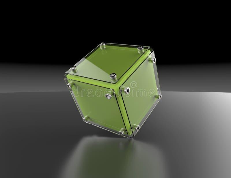 cubo astratto 3d illustrazione vettoriale
