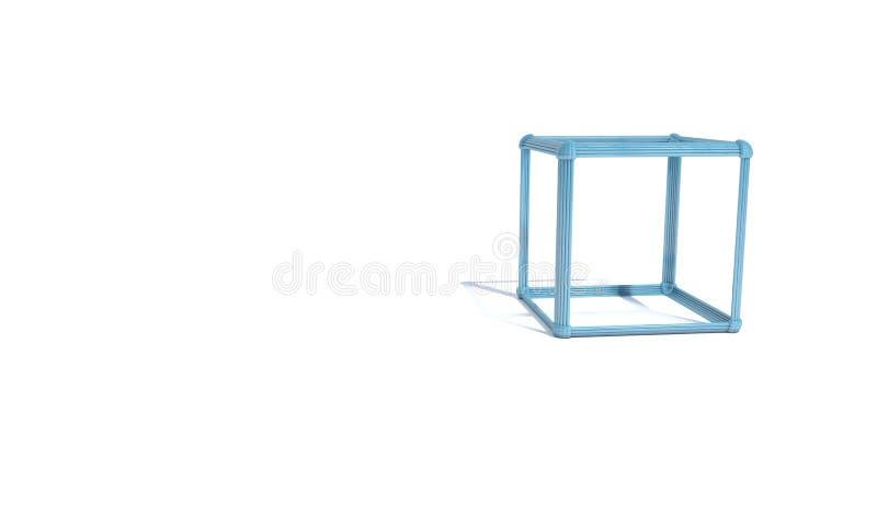 Cubo atómico abstracto del arsenal del fondo, 3d stock de ilustración