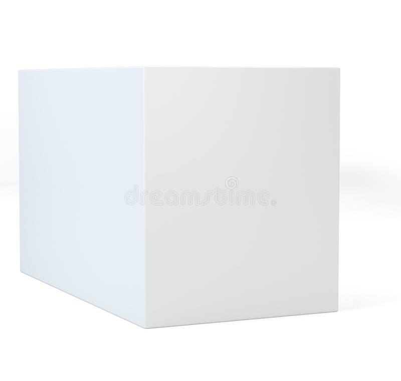 Cubo blanco realista con la sombra ilustración 3D ilustración del vector