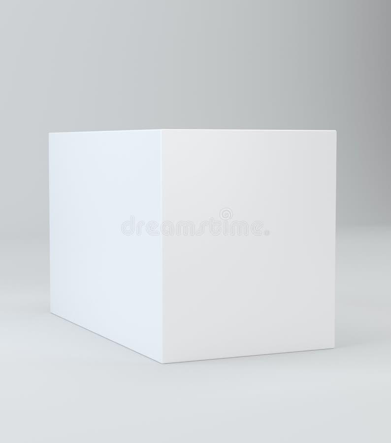 Cubo blanco realista con la sombra ilustración 3D libre illustration