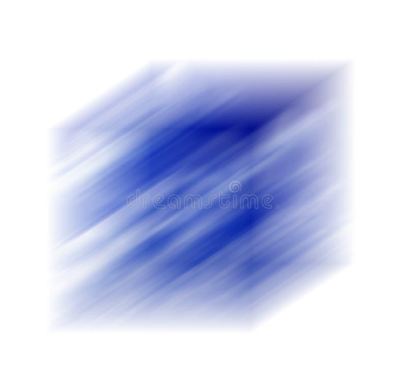 Cubo bluered azul stock de ilustración