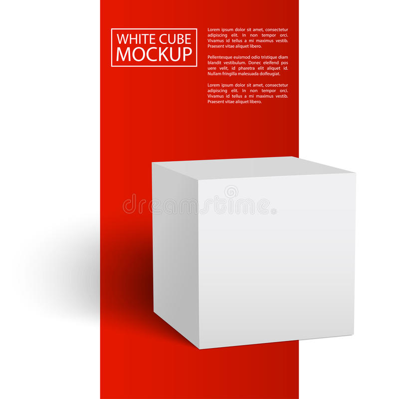 Cubo branco mockup2-01 ilustração royalty free