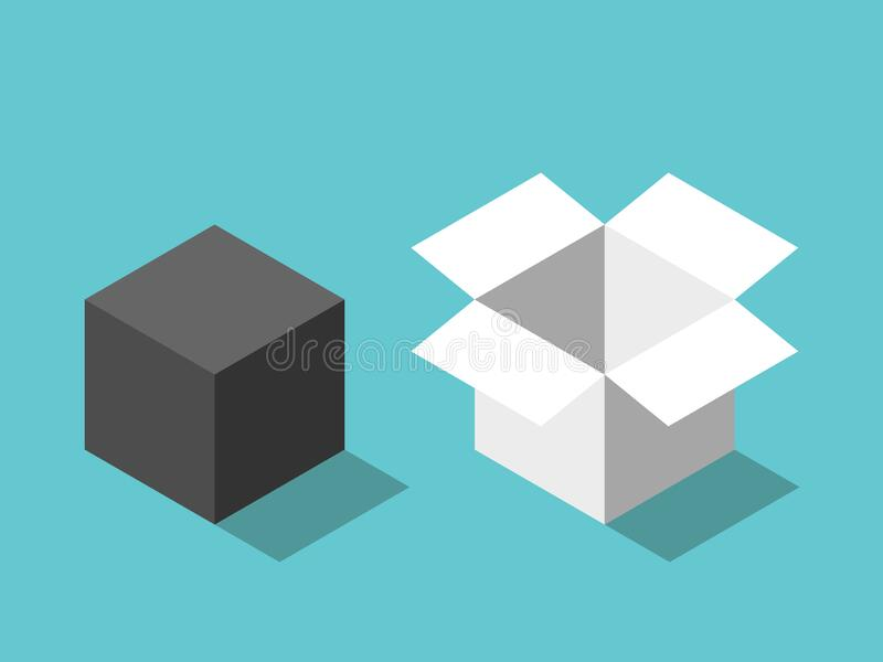 Cubo cerrado, cuadro abierto libre illustration