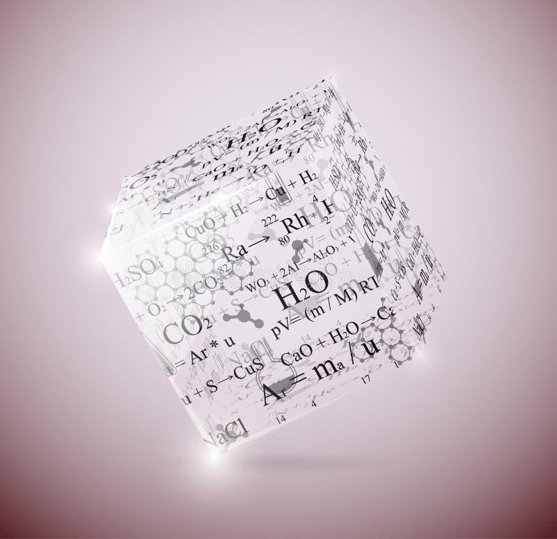 Cubo chimico illustrazione di stock