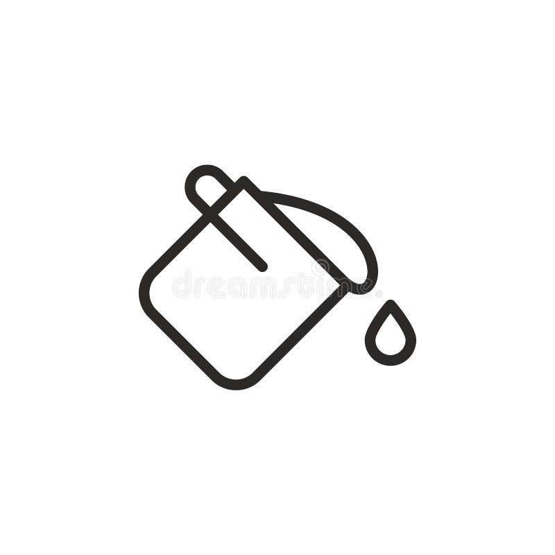 Cubo, color, icono del vector del terrapl?n r L?nea fina icono para ilustración del vector