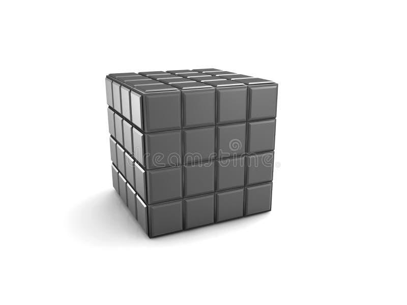 cubo com os botões vazios do teclado, ilustração 3d branca isolada ilustração do vetor