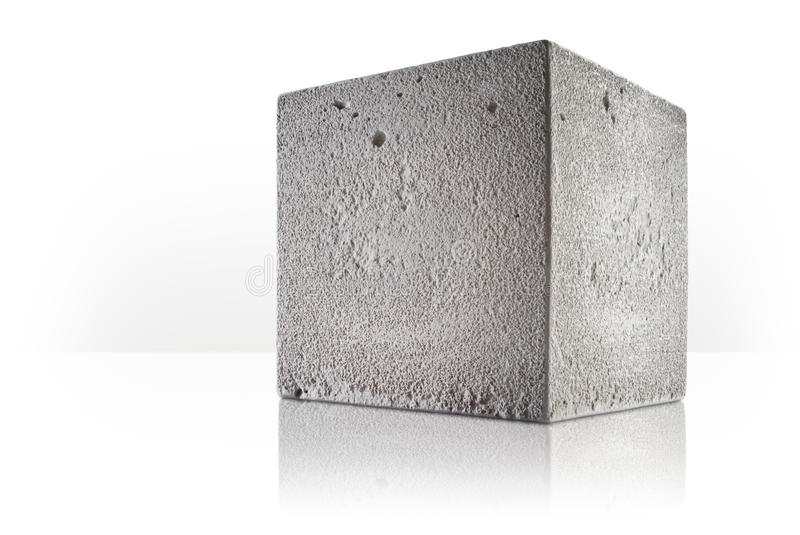 Cubo concreto foto de stock royalty free