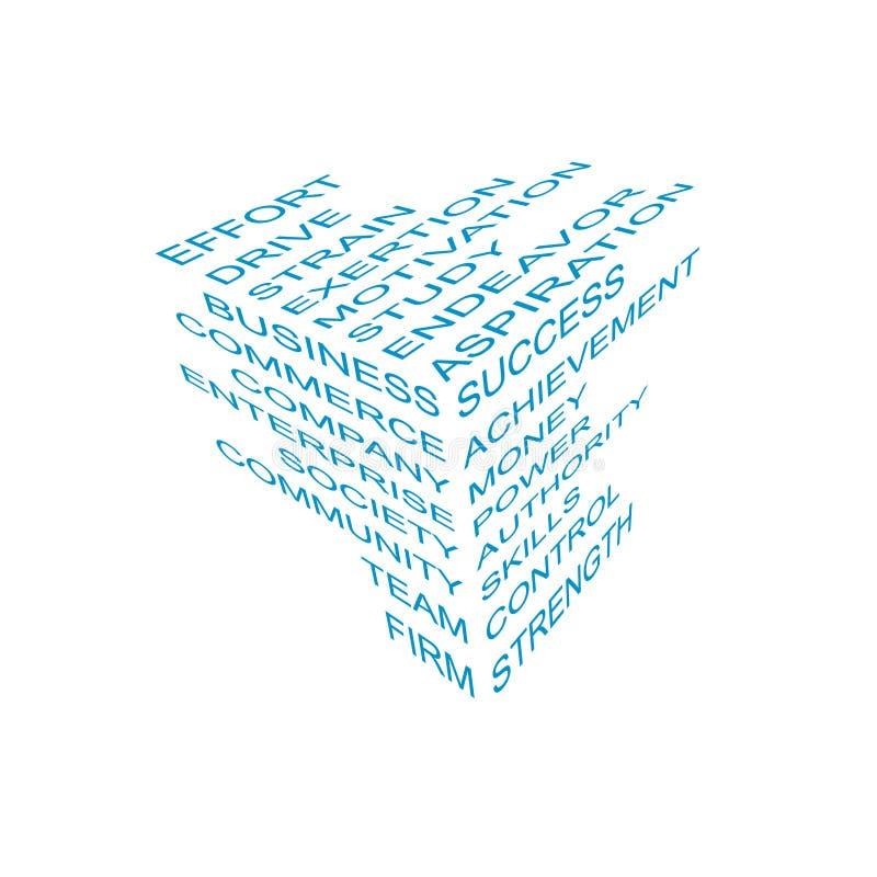 Cubo da informação do negócio ilustração do vetor