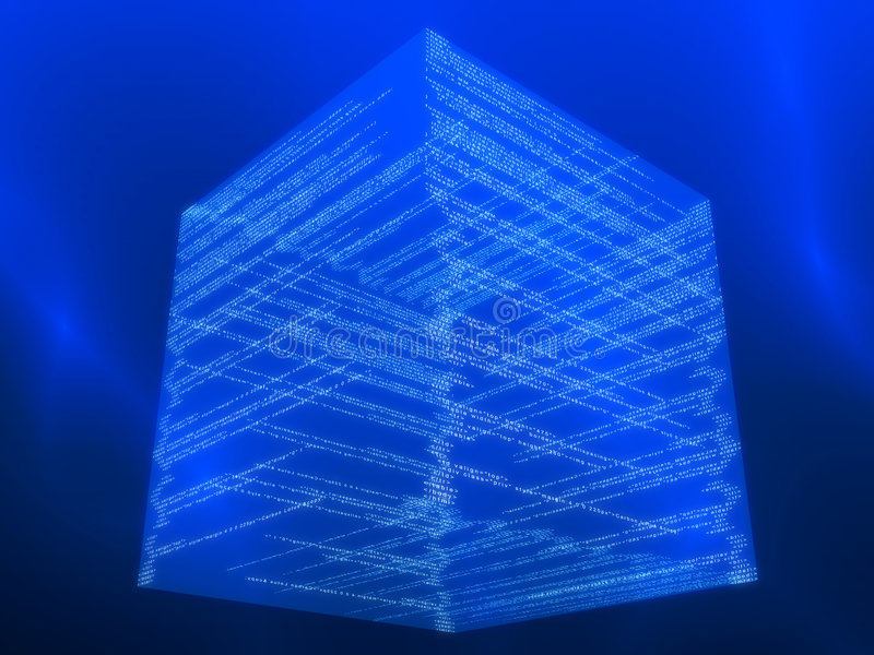 Cubo da matriz ilustração stock
