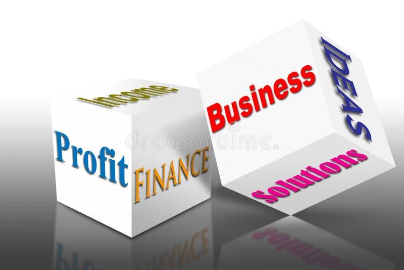 Cubo das vendas do negócio do mercado ilustração do vetor
