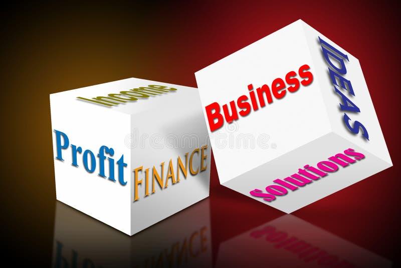 Cubo das vendas do negócio do mercado ilustração royalty free