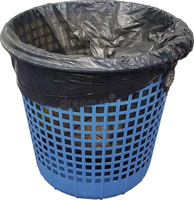 Cubo de basura azul fotos de archivo libres de regalías