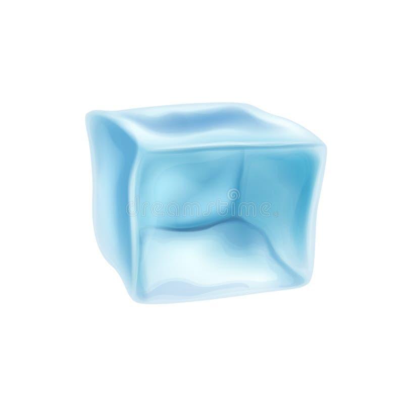 Cubo de gelo congelado isolado em um fundo branco Ilustração do vetor ilustração do vetor