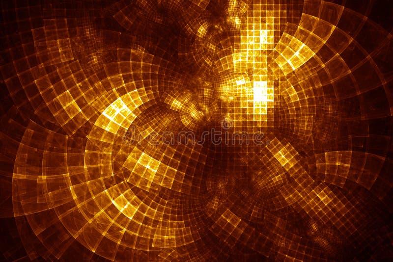 Cubo de GridCloud - ilustração do fractal ilustração stock