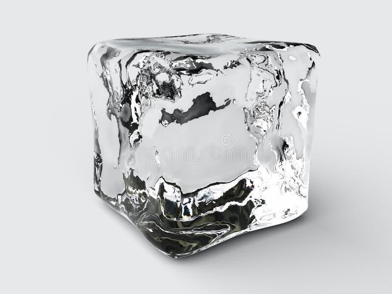 Cubo de hielo stock de ilustración