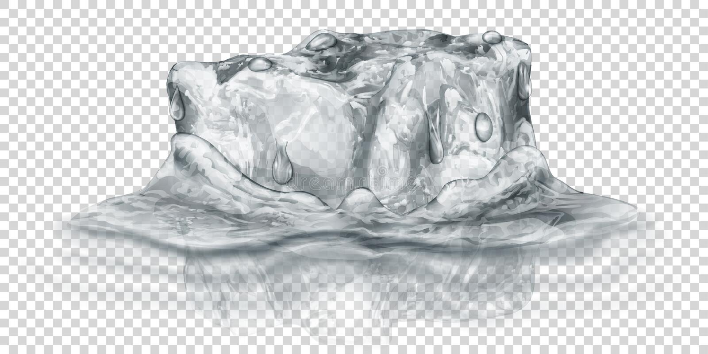 Cubo de hielo en agua libre illustration