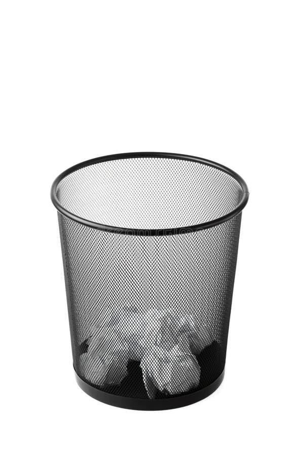 Cubo de la basura foto de archivo libre de regalías