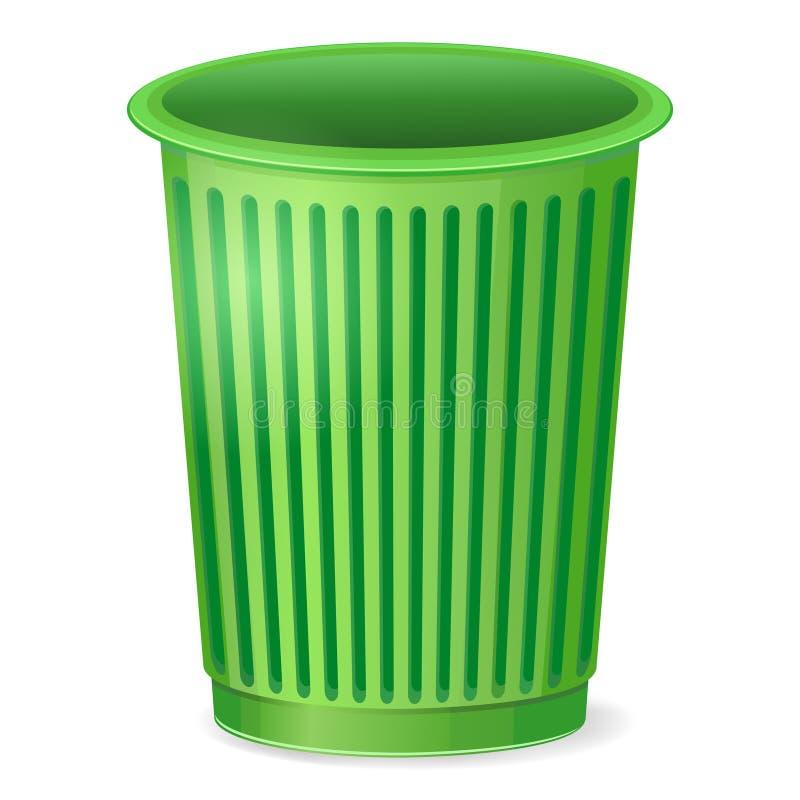 Cubo de la basura vacío stock de ilustración