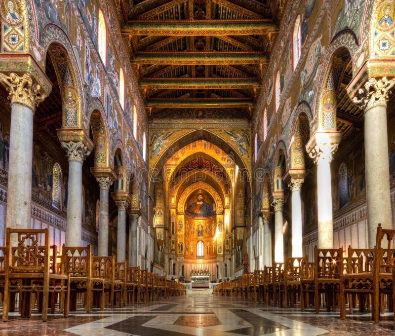 Cubo de la catedral de Monreale imagen de archivo libre de regalías