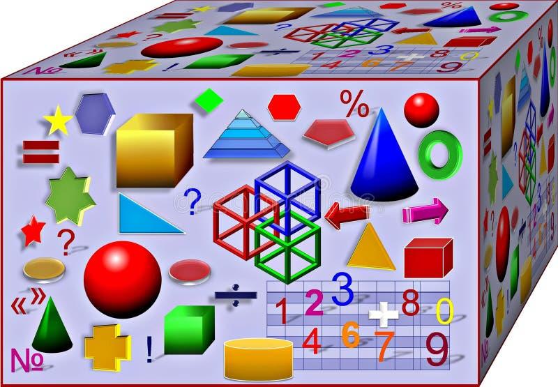 Cubo de la geometría colorida Fondo ilustraci?n 3D libre illustration