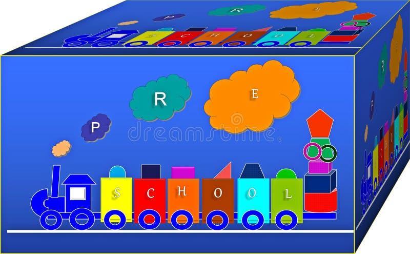 Cubo de la geometría colorida Fondo ilustraci?n 3D stock de ilustración