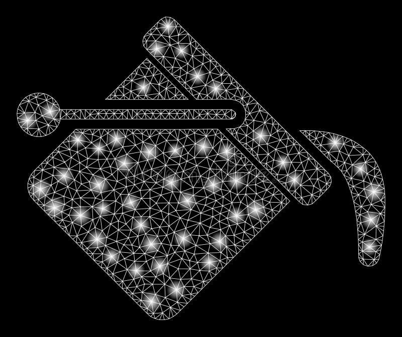 Cubo de la pintura de la malla de la llamarada 2.o con los puntos ligeros ilustración del vector
