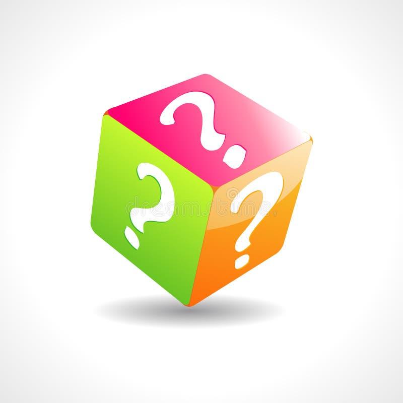 Cubo de la pregunta libre illustration