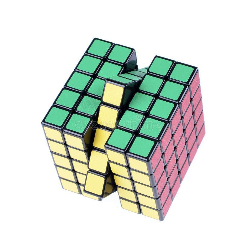 Cubo de la versión aislado foto de archivo libre de regalías