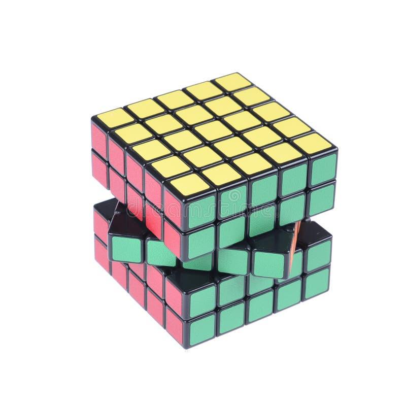 Cubo de la versión aislado foto de archivo