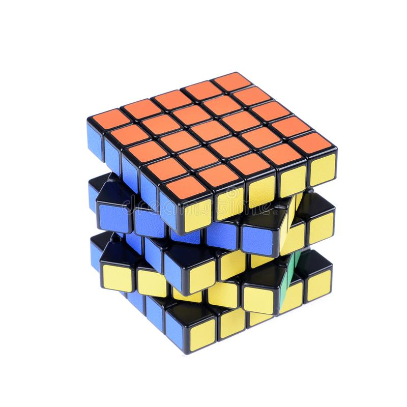 Cubo de la versión aislado fotos de archivo libres de regalías