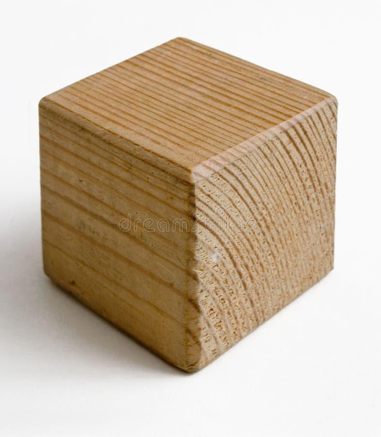 Cubo de madeira imagem de stock