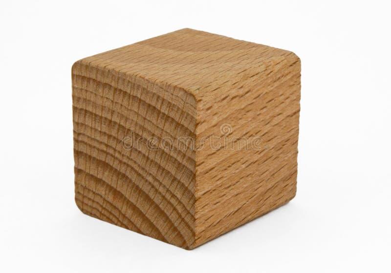 Cubo de madeira foto de stock